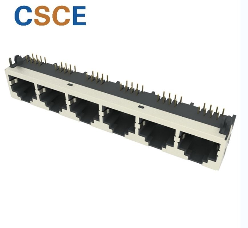 Tab Up 8 Pin PBT Shielded RJ45 Network Socket supplier